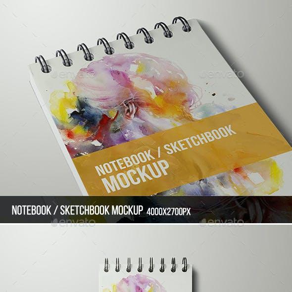 Notebook / Sketchbook Mock-up