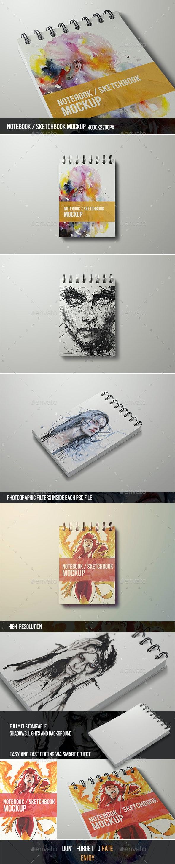Notebook / Sketchbook Mock-up - Books Print