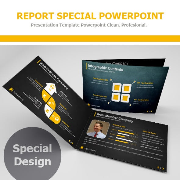 Report Special Powerpoint Presentation Template