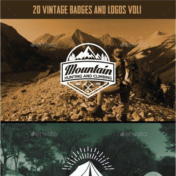 20 Vintage Badges and Logos vol1