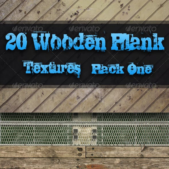 20 Wooden Plank Textures - Pack One