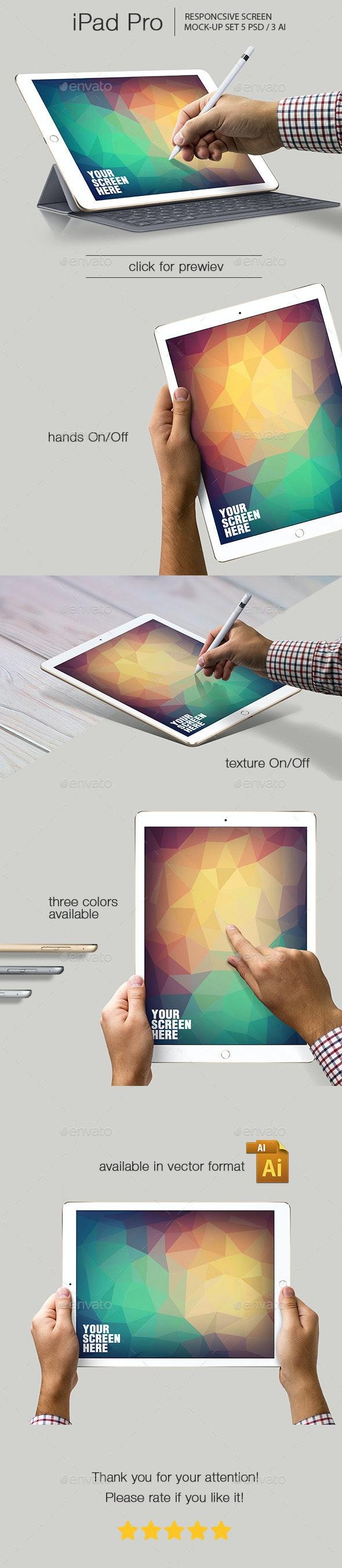 iPad Pro Responsive Mockup - Mobile Displays