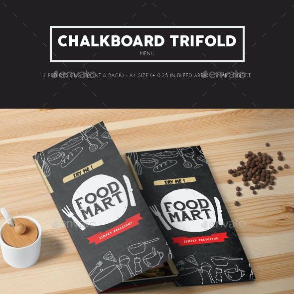 Chalkboard Trifold Menu