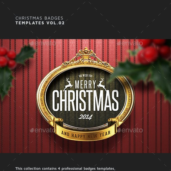 Christmas Badges Vol.02