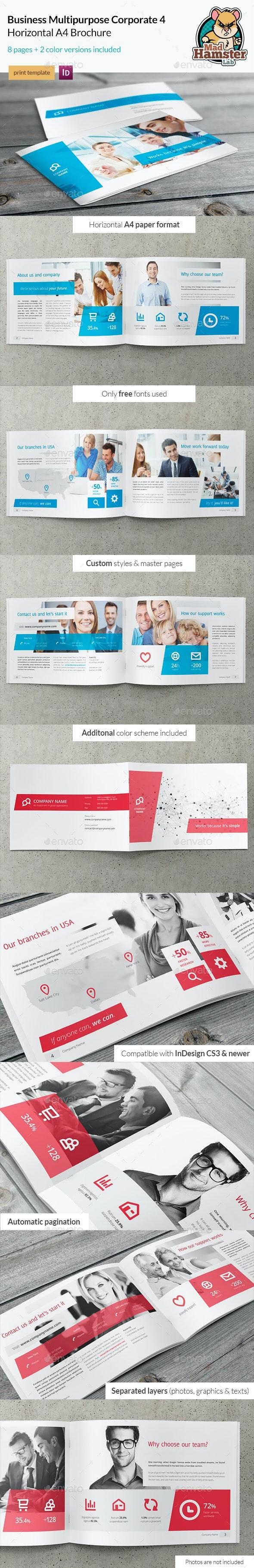 Business / Corporate Multi-purpose A4 Brochure 4 - Corporate Brochures