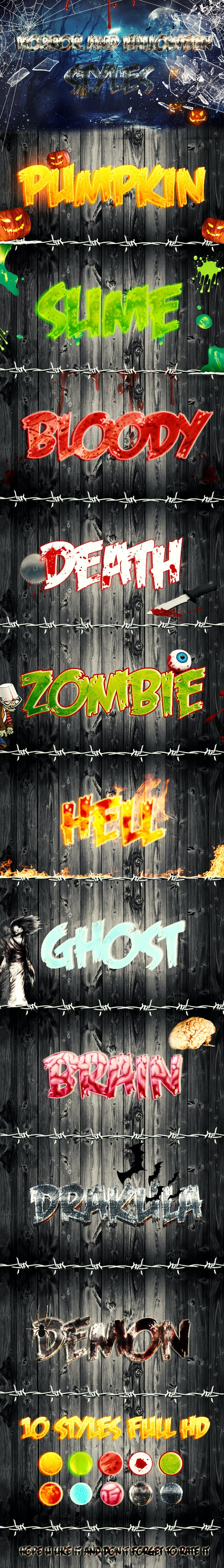 Horror And Halloween Styles - Text Effects Actions