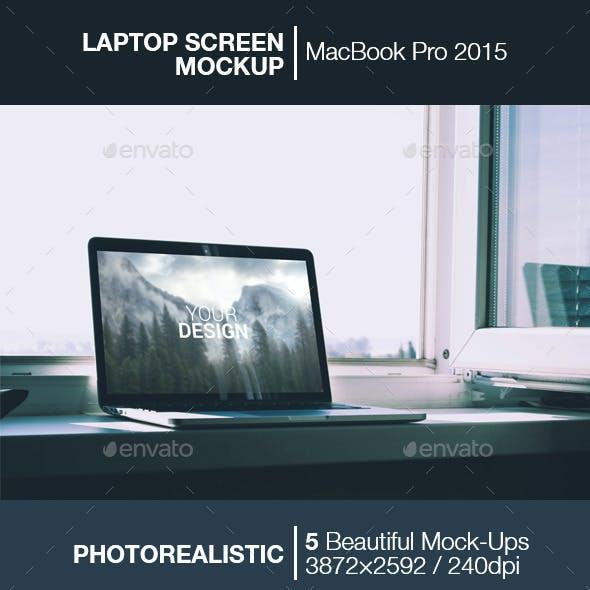 Laptop Screen Mockup | MacBook 2015