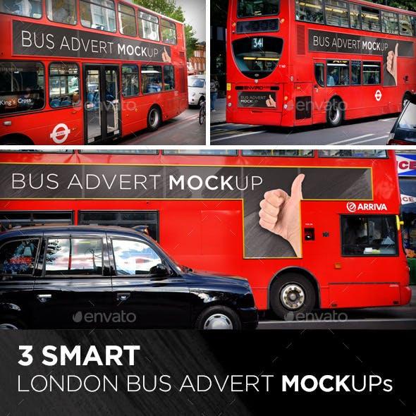 3 Smart London Bus Advert Mock-Ups