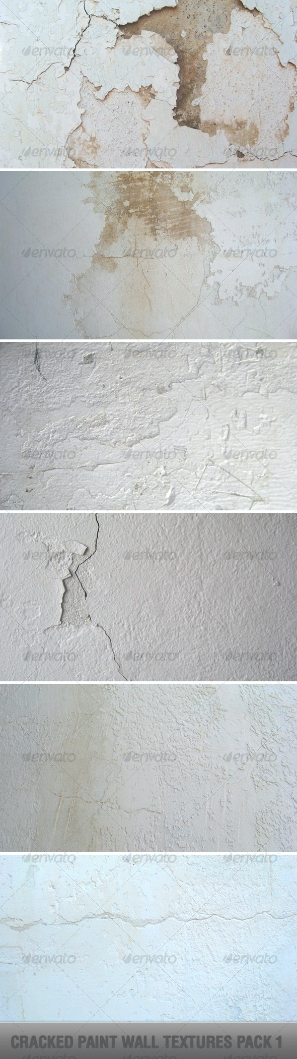 Cracked Paint Wall Textures Pack 1 - Industrial / Grunge Textures