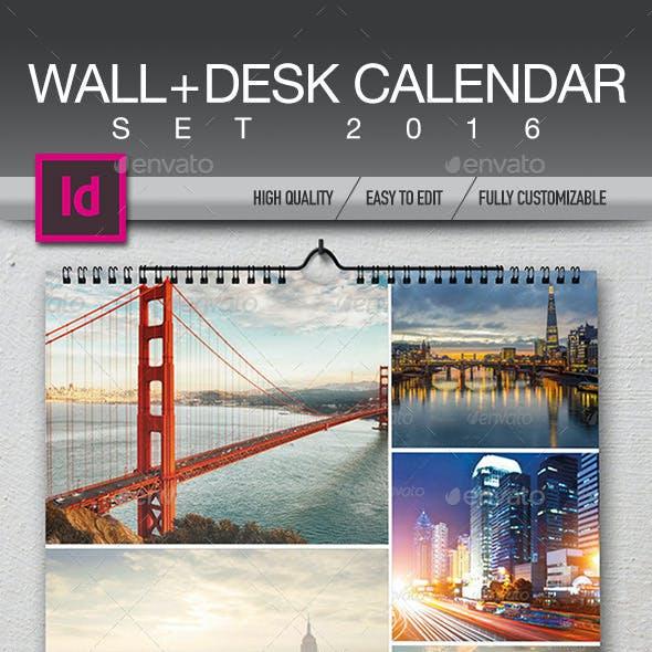 Wall + Desk Calendar 2016