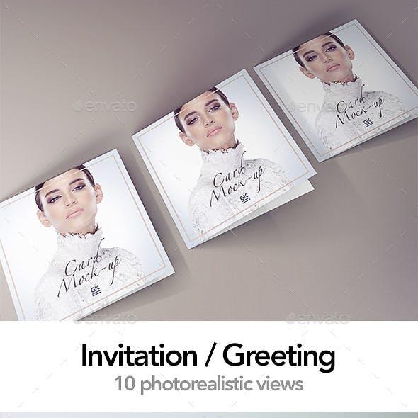 Invitation / Greeting / Postcard Mock up