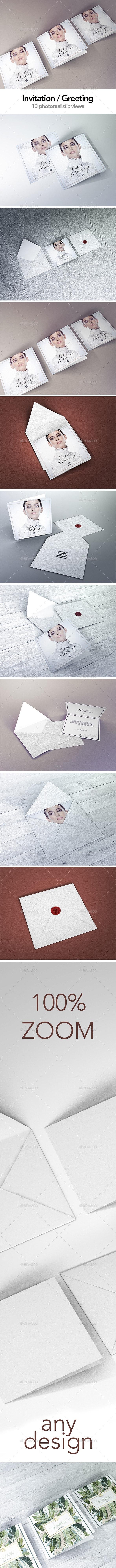Invitation / Greeting / Postcard Mock up - Miscellaneous Print