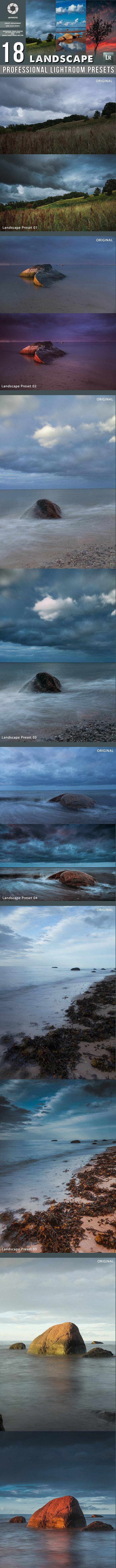 18 Professional Landscape Lightroom Presets - Landscape Lightroom Presets