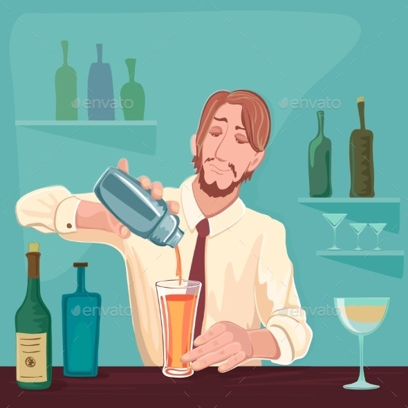 Barman for Cocktail Party - People Characters