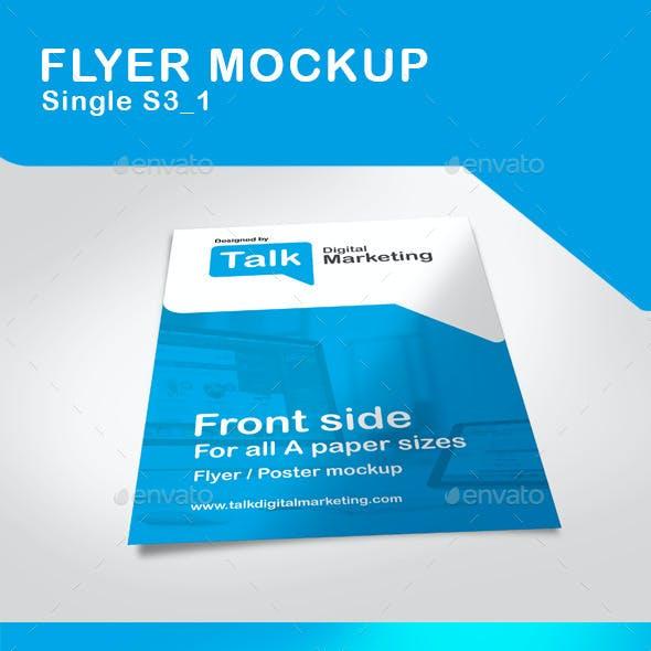 Single Flyer Mockup
