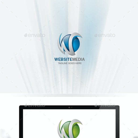 Letter W / Logo W / Global W / World / Website Media / 3D Logo Templates