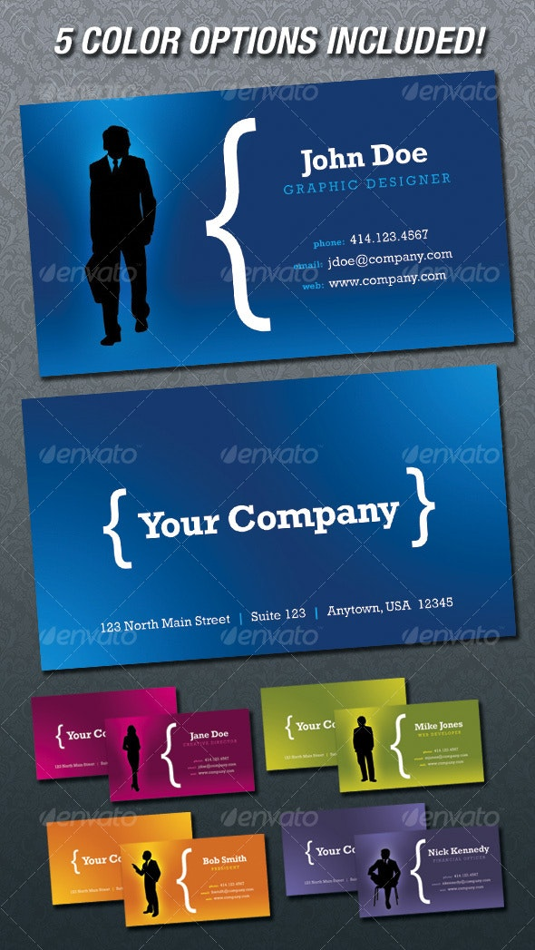 Cool Silhouette Business Cards - Corporate Business Cards