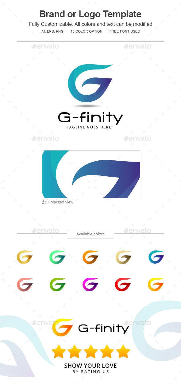 G-finity letter G Logo -144-G - Vector Abstract