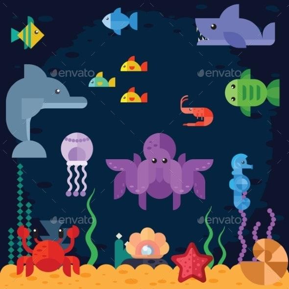Ocean Underwater Life Sea Animals - Animals Characters