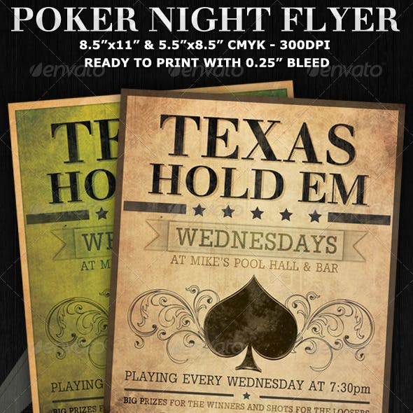 Poker Night Flyer Template V2