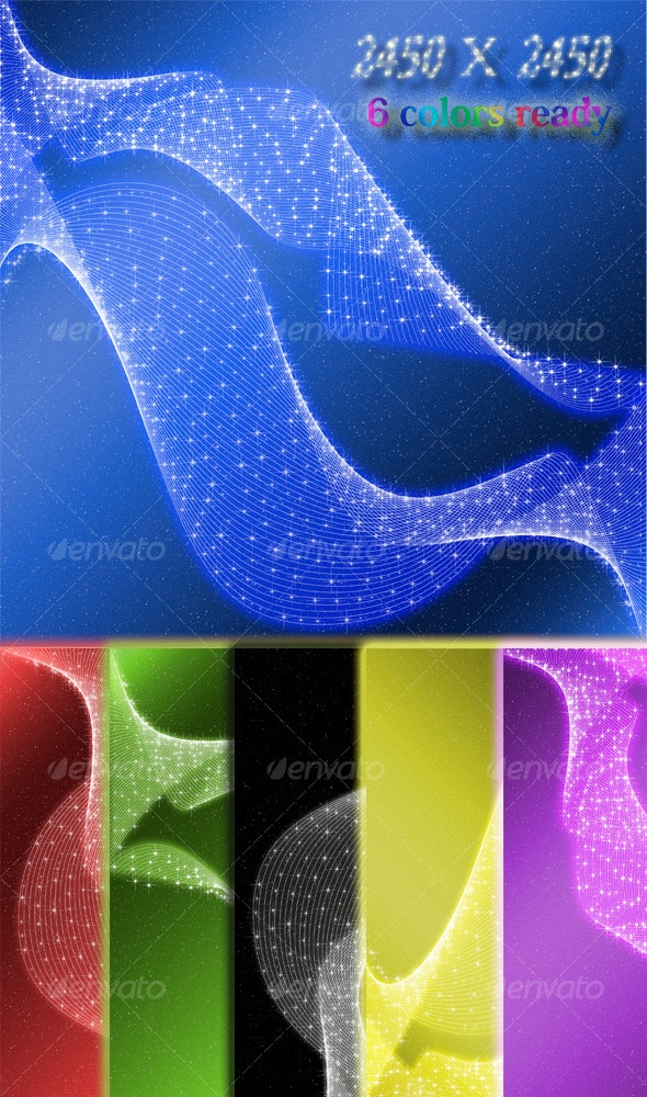 Abstract Glowing Stars - Abstract Backgrounds