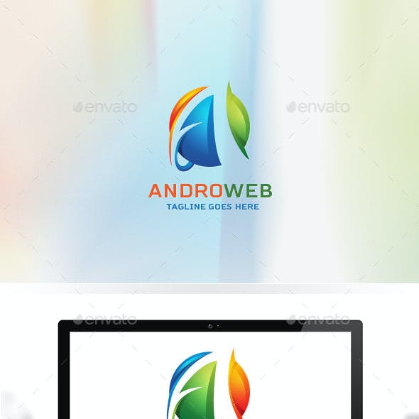 Andro Web / Website Design / Letter A / Logo A / Media / Studio / Global / 3D Logo Templates