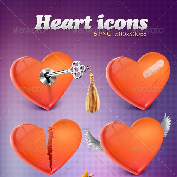 Heart 6 Icons