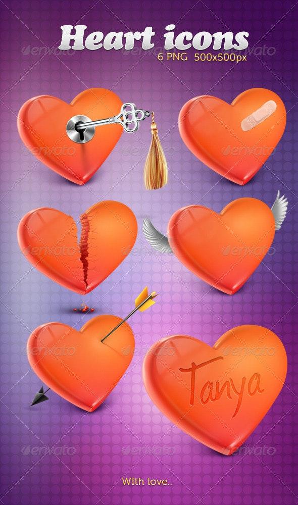 Heart 6 Icons - Seasonal Icons