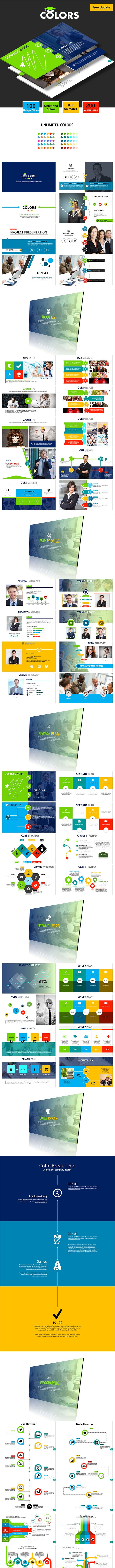 COLORS -  Google Slides Business Presentation - Google Slides Presentation Templates