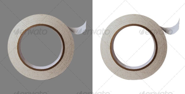 White Masking Tape Roll - Home & Office Isolated Objects