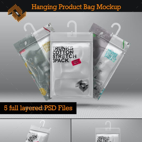 Hanging Storage Product Bag / Pouch Mockup