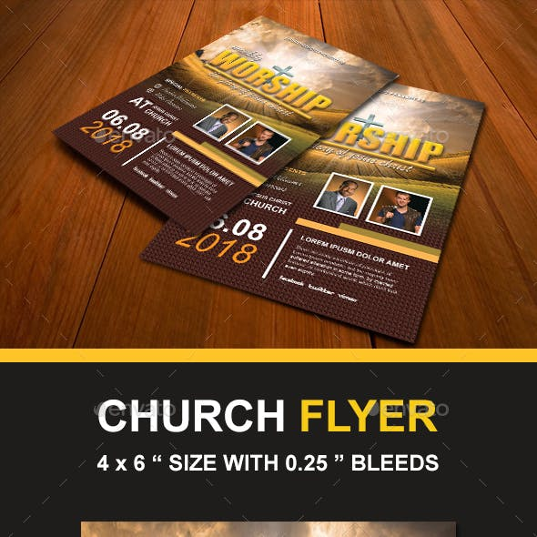 Church Worship Flyers