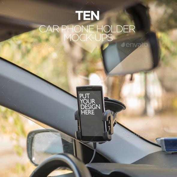 10 Car Phone Holder Mockups