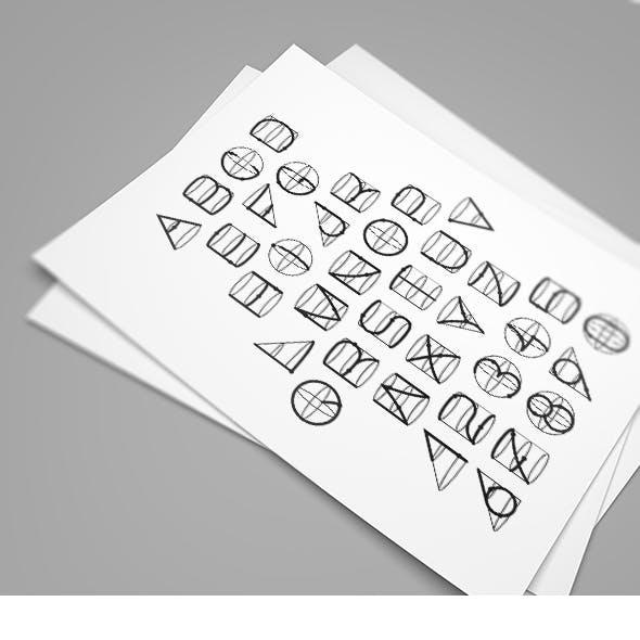 Geometric Line Font