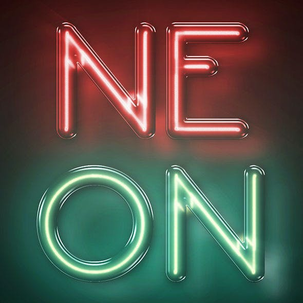 Neon Text Effect - Photoshop Actions A4 300DPI