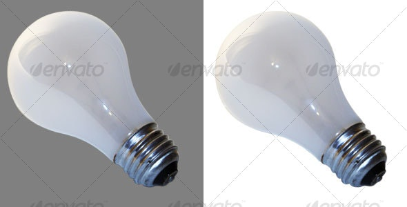 Screw type Light Bulb - Home & Office Isolated Objects