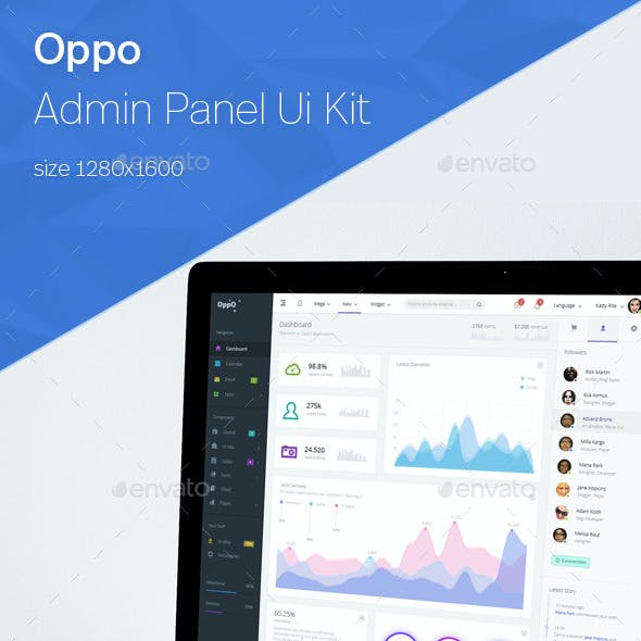 Oppo - Responsive Admin Template