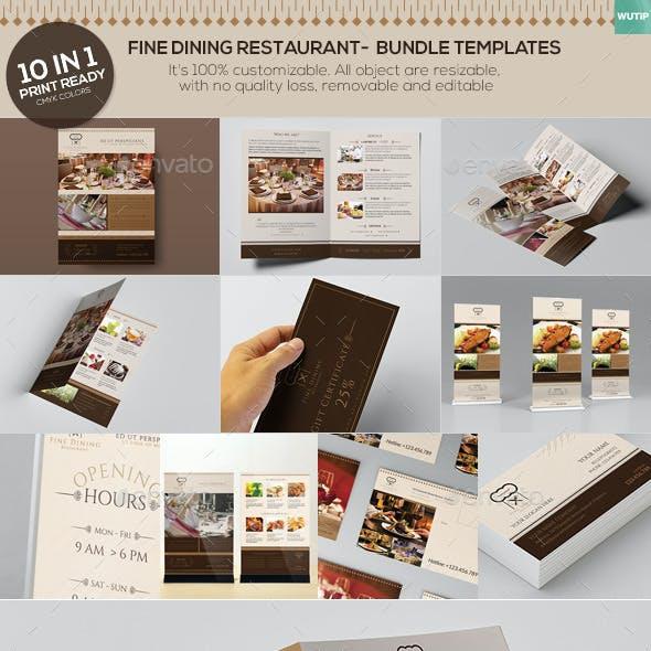 Fine Dining Restaurant - Bundle Templates
