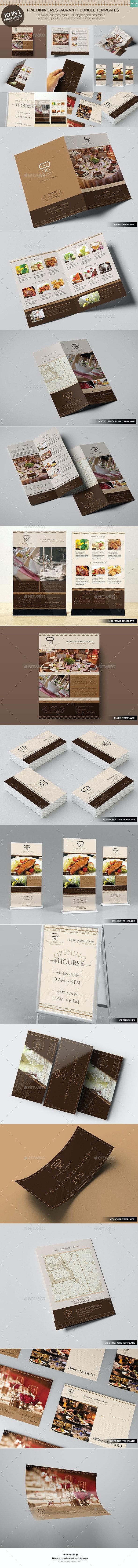 Fine Dining Restaurant - Bundle Templates - Food Menus Print Templates