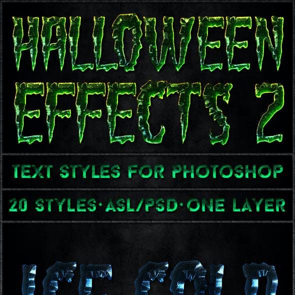 Halloween 2 - Text Styles