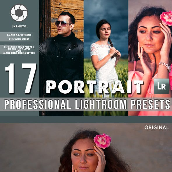 17 Portrait  Professional Lightroom Presets