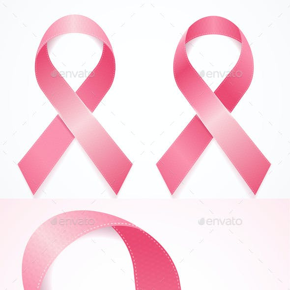 Breast Cancer Ribbon Set