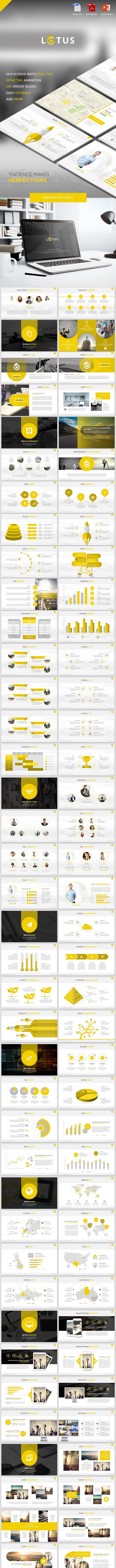 Lotus - Multipurpose Powerpoint Template - Business PowerPoint Templates