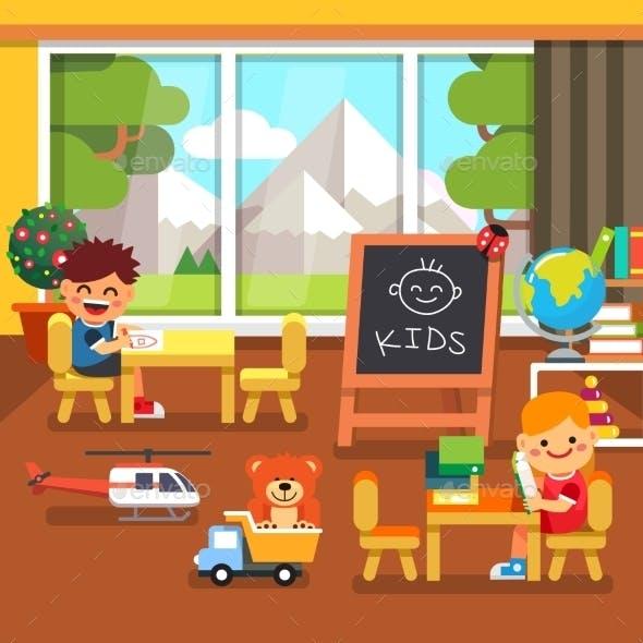 Modern Kindergarten Playroom