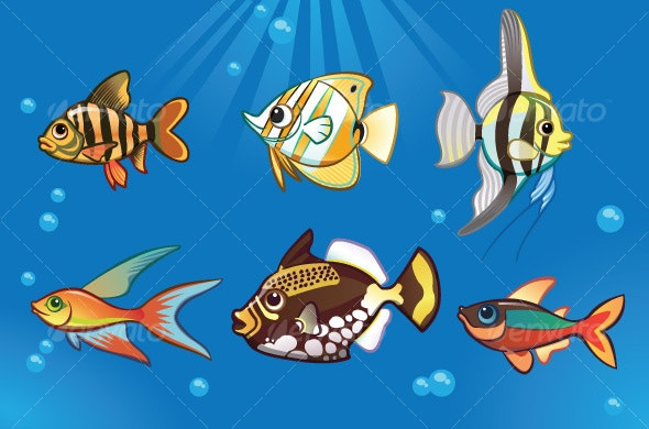 Fresh Water Fish - Animals Characters