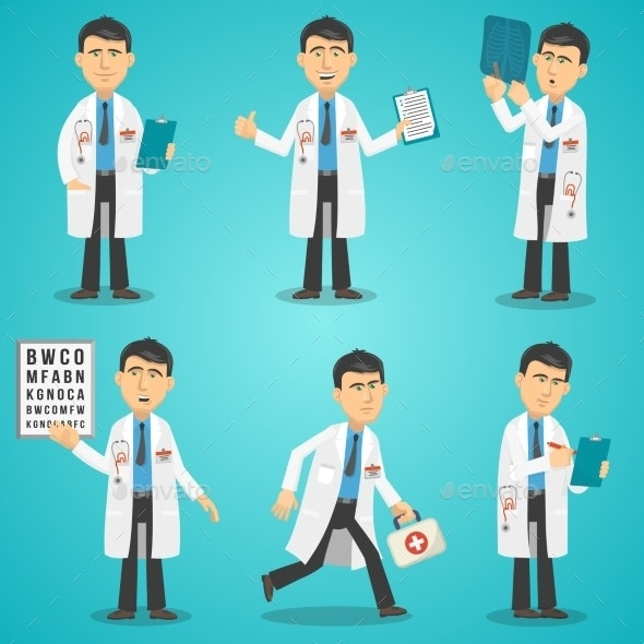 Doctor Character Set - Health/Medicine Conceptual