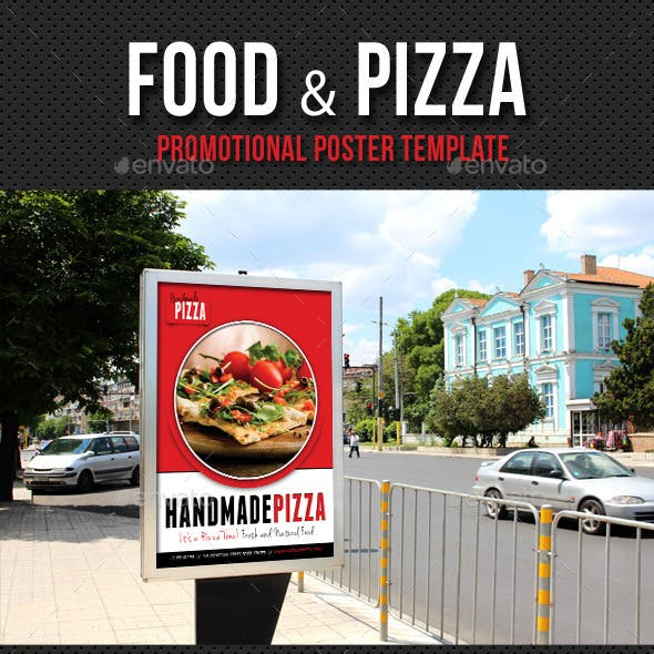 Food And Pizza Poster Template V01