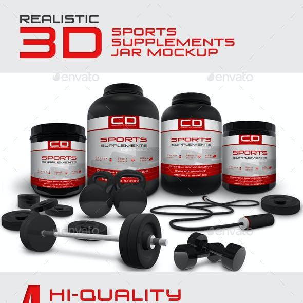 Sports Supplements Jar Mockup