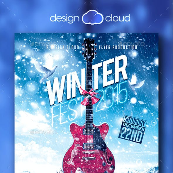 Winter Fest Music Flyer Template