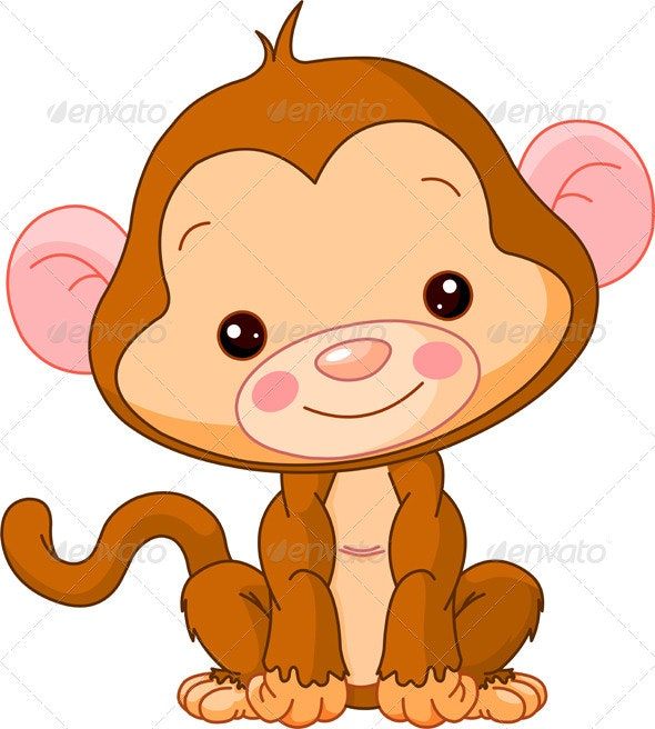 Fun zoo. Monkey - Animals Characters